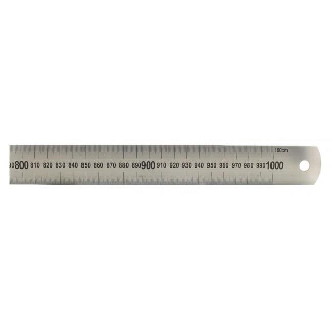 Acél vonalzó 1000 mm Fémvonalzó rozsdamentes B110