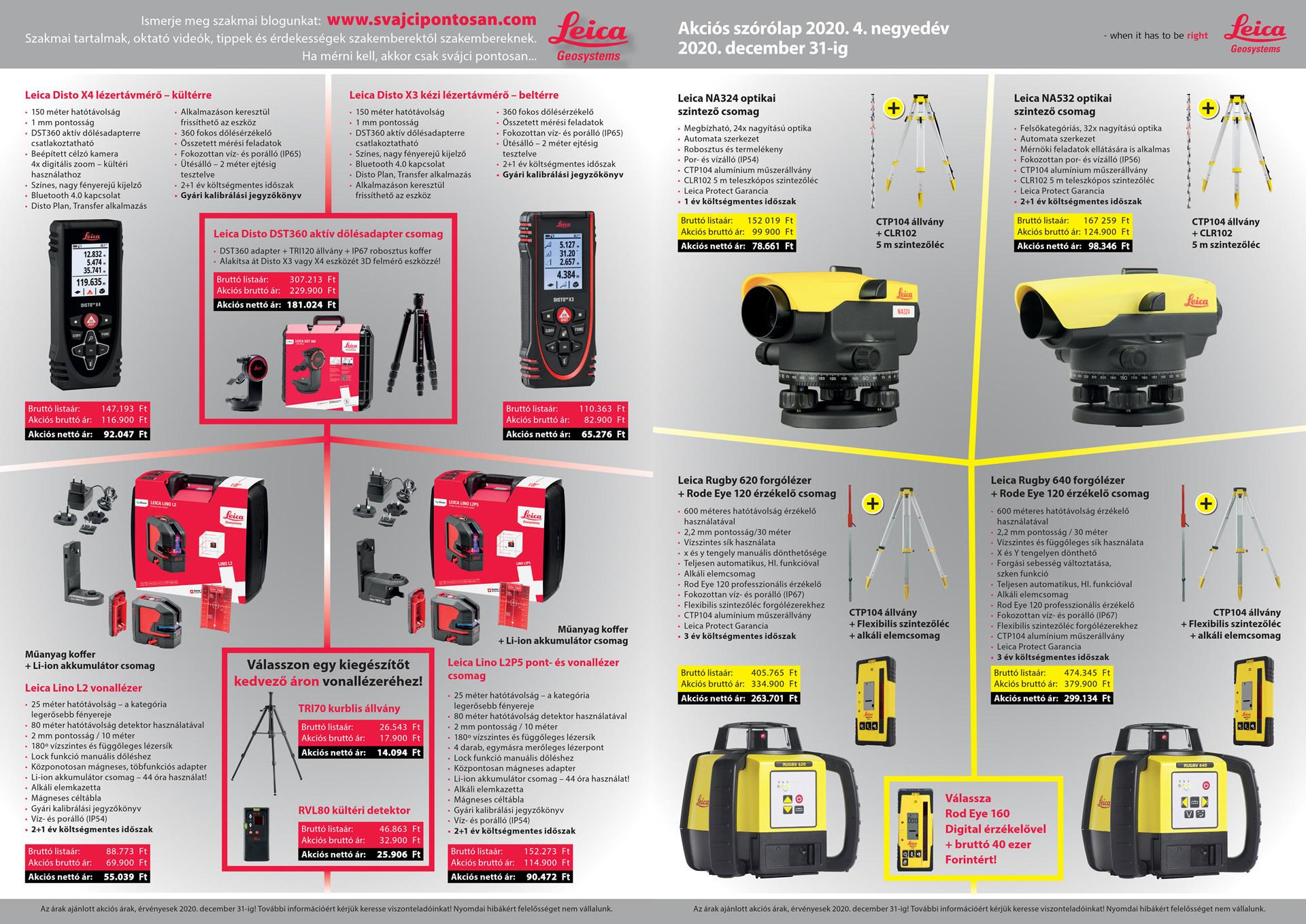 Leica Gesoystems akciós szintezők, lézerek és távmérők
