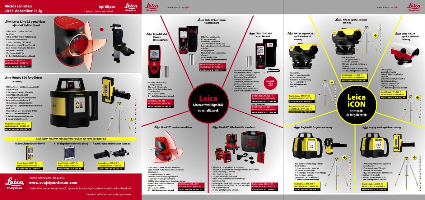 Akciós Leica Geosystems szórólap, érvényes 2017 év végéig!