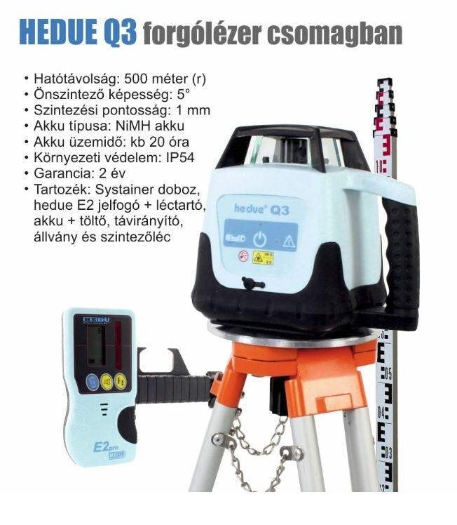 hedue Q3 forgólézer kültéri és beltéri használatra
