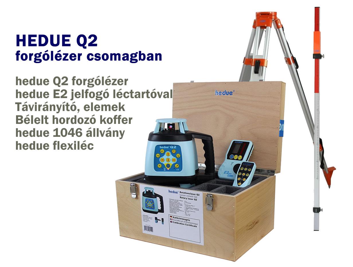 hedue Q2 forgólézer csomagban