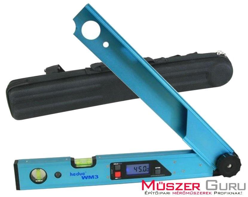 hedue WM3 digitális szögmérő hordtáskával